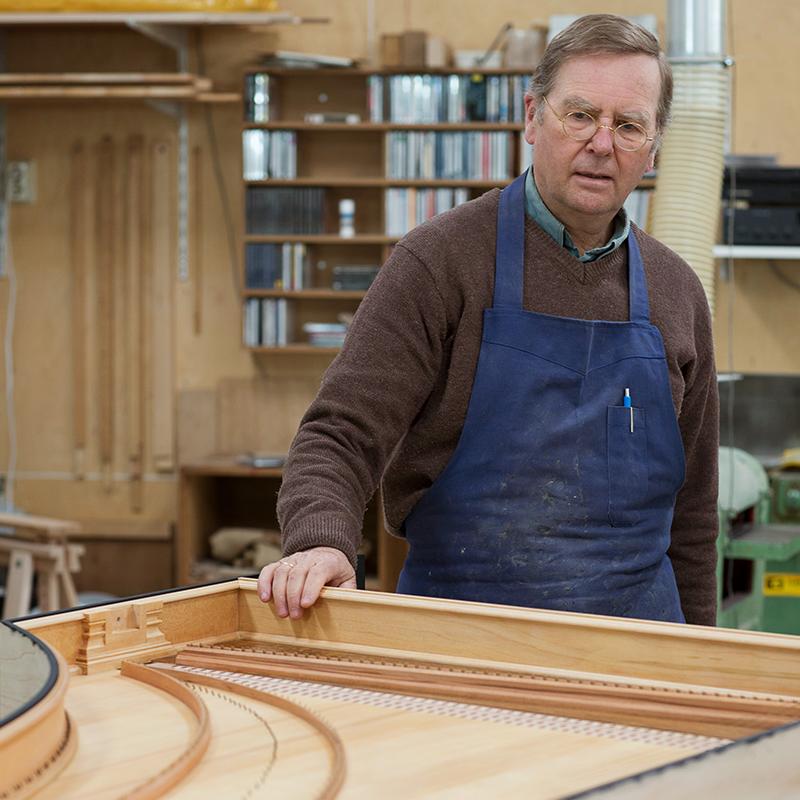 Jan Kalsbeek at a harpichord