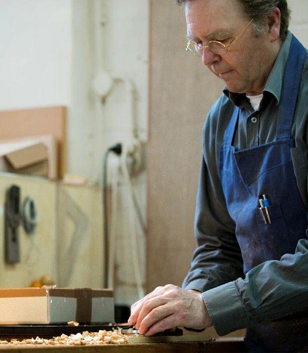 Jan Kalsbeek in his workshop