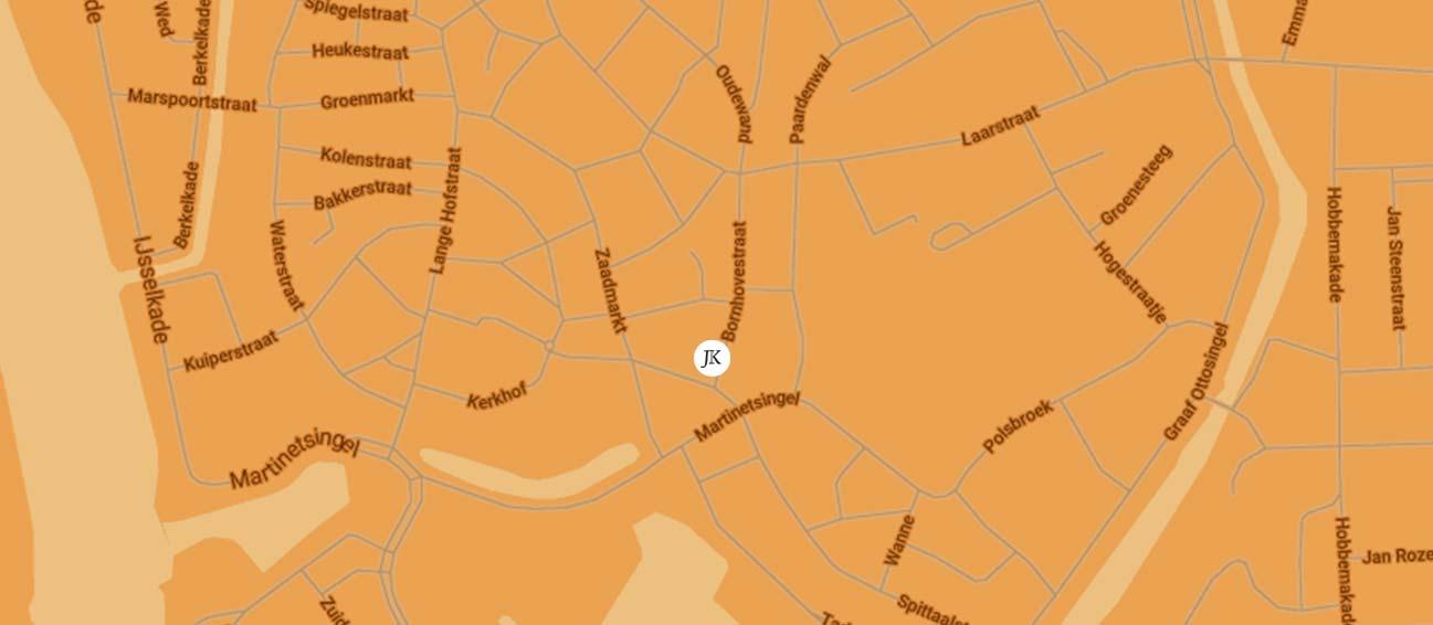 map zutphen bornhovestraat 18 Zutphen